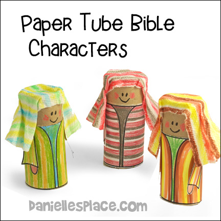Paper Tube Bible Characters Bible Craft for Children from www.daniellesplace.com