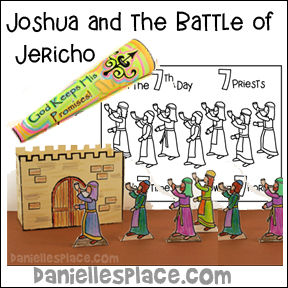 Joshua and the Battle of Jericho Bible Lesson with Craft and Games for kids