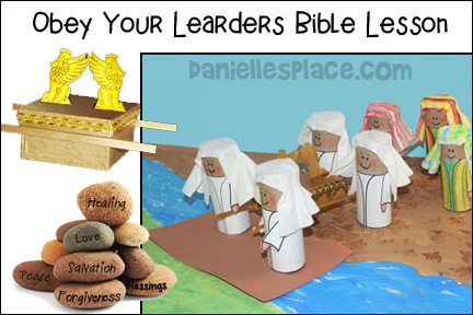Joshua and the Israelites Cross the Jordan River Bible Lesson