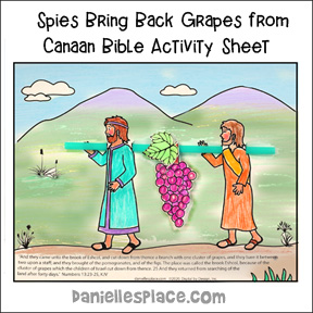Joshua and Spies in Canaan Bible Activity Sheet