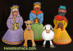 Nativity Wise Men Craft for Kids