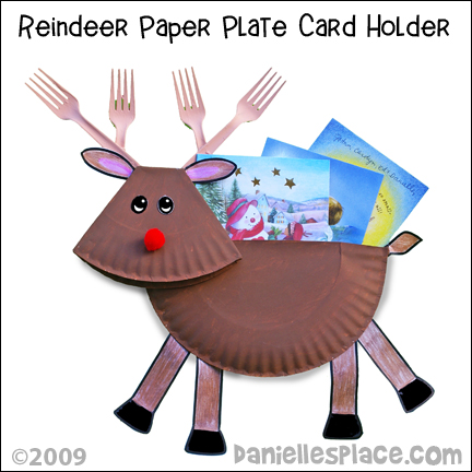Paper Plate Christmas Reindeer Christmas Card Holder Craft