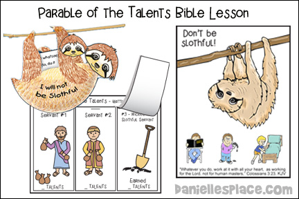 Parable of The Talents Coloring Page | COVID OUTBREAK | 288x432