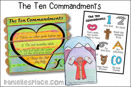 Ten Commandments Bible Lesson for Children from www.daniellesplace.com