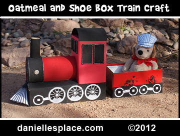 Oatmeal Box Train Craft and Learning Activity