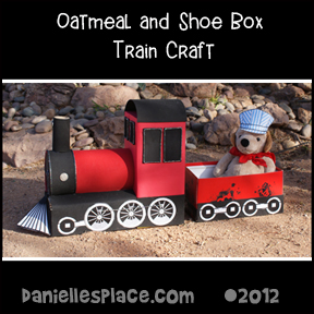 Oatmeal Box Train Craft for Children