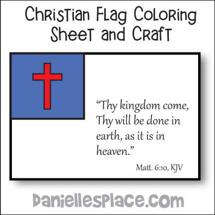Christian Flag Craft and Coloring Sheet from www.daniellesplace