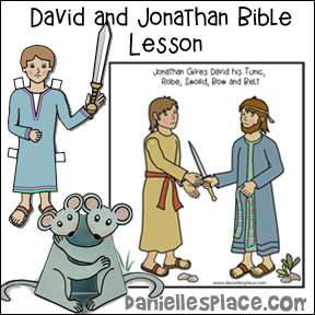David and Jonathan Bible Lesson with Crafts and Activities