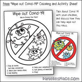 Wipe Out Covid-19 Coloring and Activity Sheet for Children