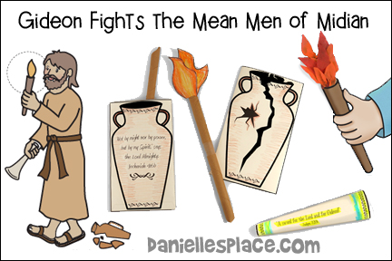 Gideon Bible Lesson - Gideon Fights the Mean Men of Midian