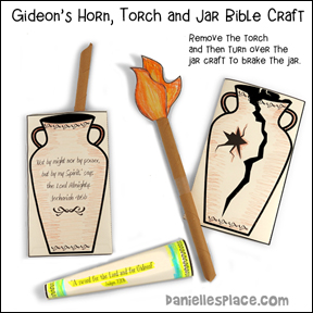 Gideon Bible Craft - Horn, Jar and Torch