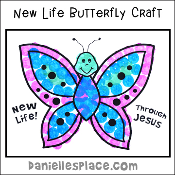 New Life Butterfly Craft for Easter