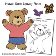 Prayer Bear Activity Sheet