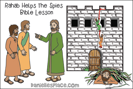 Rahab Helps the Spies Bible Lesson for Children