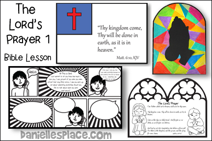 The Lord's Prayer Bible Lesson and Bible Crafts