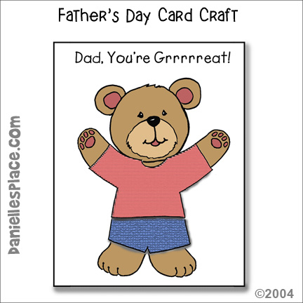 """Dad, You're Grrreat!"" Father's Day Card Craft for Kids"