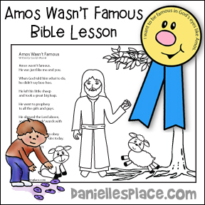 Amos Wasn't Famous Bible Lesson
