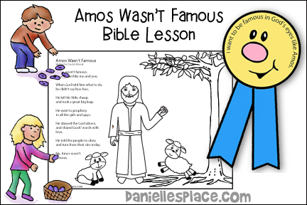 Amos Wasn't Famous Bible Lesson for Children's Ministry