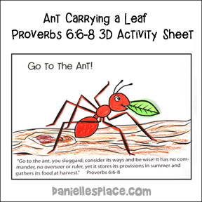 Consider the Ant Bible Activity sheet