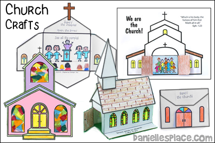 Church Crafts, We Are the Church Craft for Children's Ministry