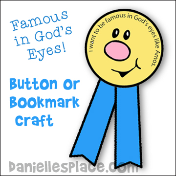 Famous in God's Eyes Buttons or Bookmarks Craft