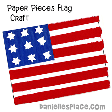 Paper Pieces Flag Craft