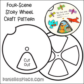 Four-scene story wheel Bible Craft