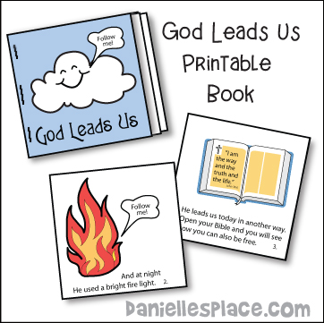 God Leads Us Printable Mini Book for Children's Ministry