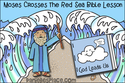 Moses Crosses the Red Sea Interactive Bible Lesson of Children's Ministry