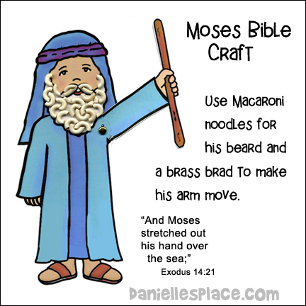 Moses Parts the Red Sea Activity Sheet and Craft