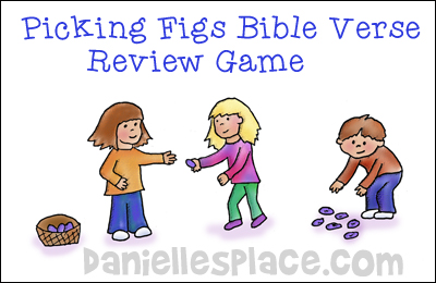 Picking Figs Bible Verse Review Game for Amos Bible Lesson