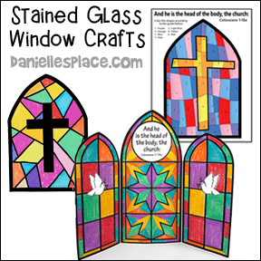 Jesus is the Head of the Body - the Church Stained Glass Window Craft for children's Ministry