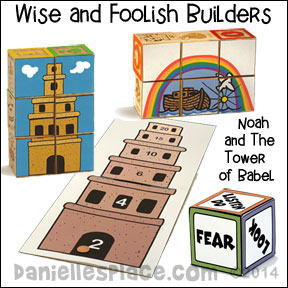 Wise and Foolish Builders - Noah and the Tower of Babel Bible Lesson for Children's Ministry
