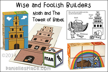 Wise and Foolish Builders - Noah and the Tower of Babel Bible Lessons