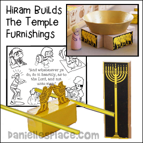 Bible Crafts Wise and Foolish Builders - Hiram Builds the Temple Furnishings