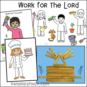 Work for the Lord Bible Lesson - Building the Temple Furnishings