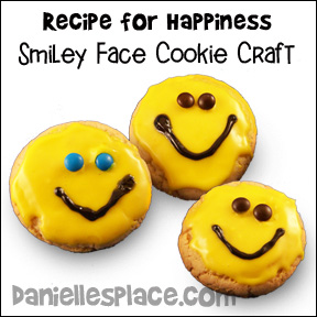 Happy Face Sugar Cookie Craft for Recipe for Happiness Beatitudes Bible Lesson for Children