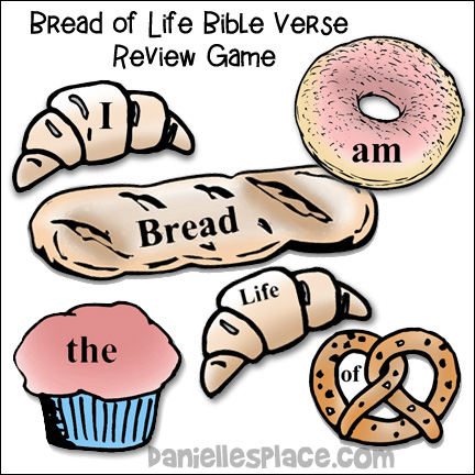 Bread of Life Bible Review Relay Game for Children's Ministry