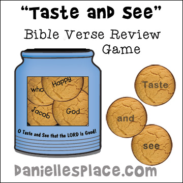 Taste and See Bible Verse Review Game for Sunday School