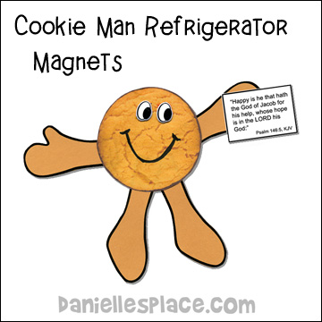 Cookie Man Refrigerator Magnet Craft for Sunday School