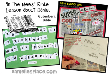 In the News Daniel Bible Lesson for Older Children