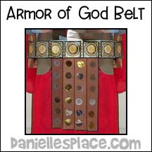 sunday school Armor of God Belt bible craft from www.daniellesplace.com