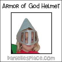 sunday school Armor of God Helmet bible craft from www.daniellesplace.com