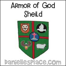 sunday school Armor of God Shield bible craft from www.daniellesplace.com