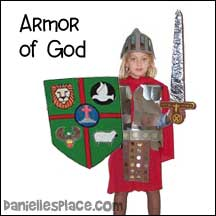 sunday school Armor of God bible craft from www.daniellesplace.com
