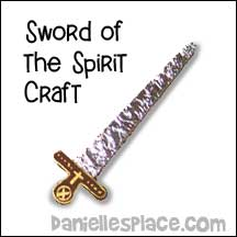 sunday school Armor of God Sword bible craft from www.daniellesplace.com