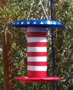 patriotic Brid feeder craft for memorial or the fouth of July