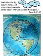 sunday school God Made the Earth bible Craft
