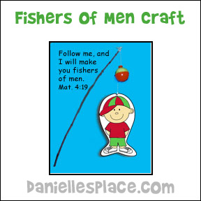 Fishers of Men Bible Activity Sheet for Sunday School