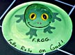 frog on a lily pad craft